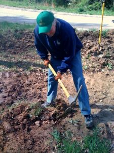 Don Working on the Rain Garden